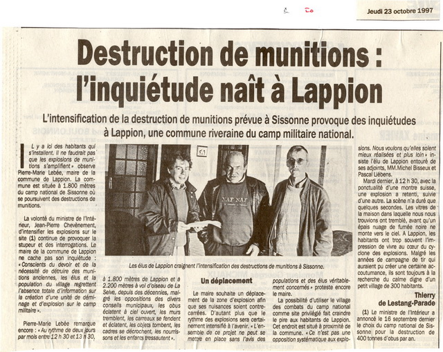 L'Union - 23 octobre 1997