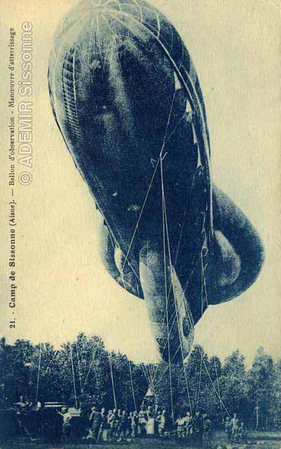 Ballon d'observation, manoeuvre d'atterrissage.